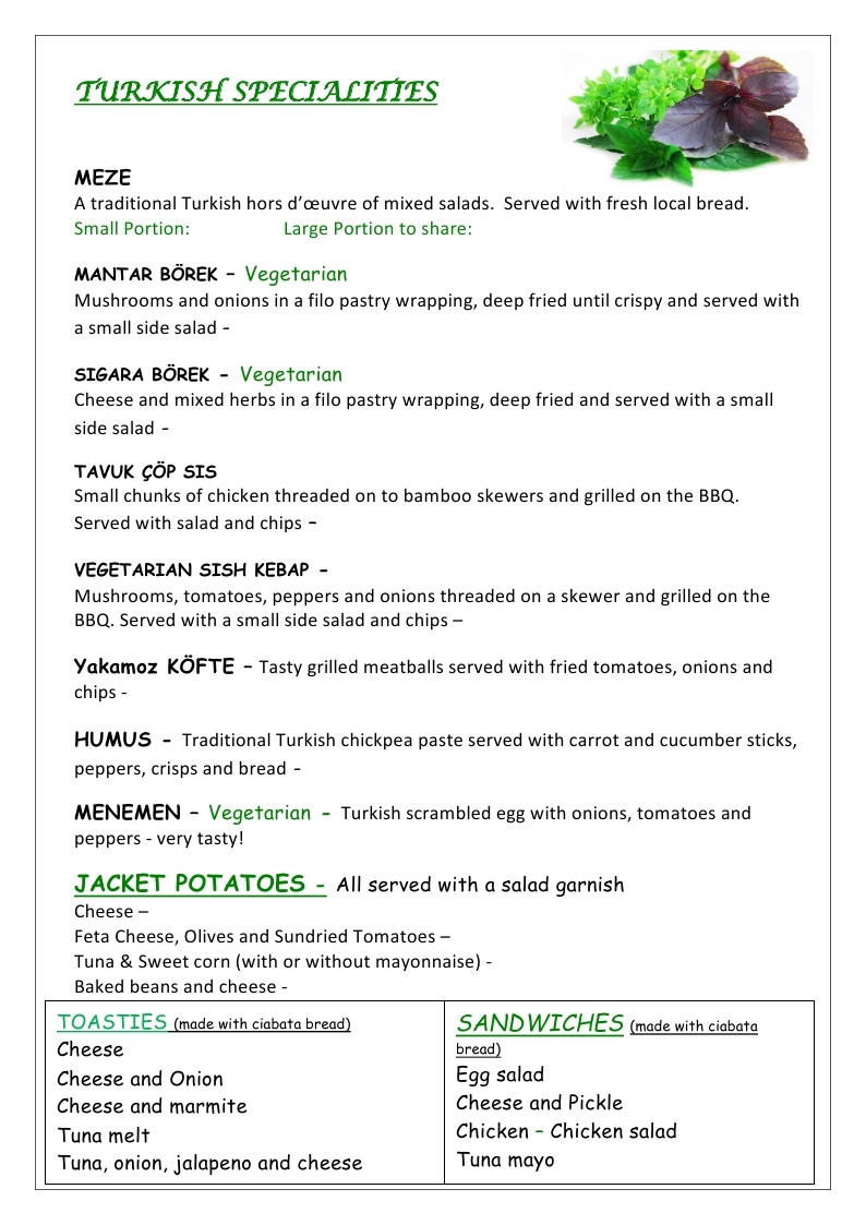 LUNCH MENU 2019 page 1