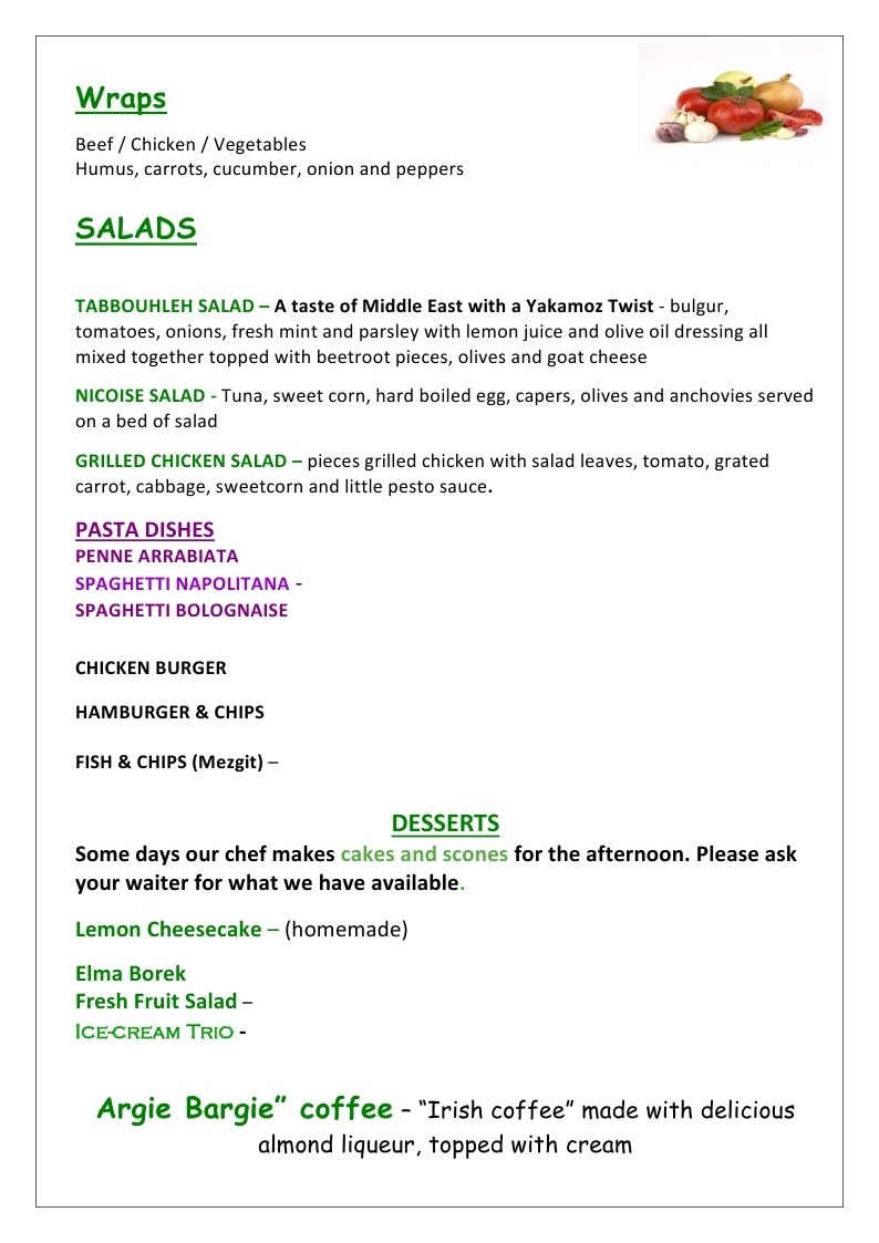 LUNCH MENU 2019 page 2